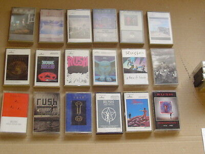RUSH lot of 18 classic hard rock metal music cassettes collection Only RUSH