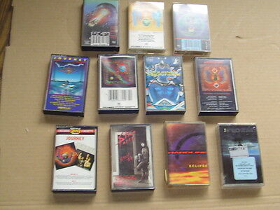 JOURNEY lot of 11 classic hard rock metal music cassettes collection Only Just