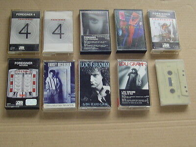 FOREIGNER lot of 10 classic hard rock metal music cassettes collection Only