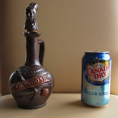 "Vintage Calvados French Brandy Pottery Stoneware 6"" Bottle Decanter"