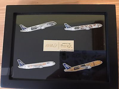 STAR WARS Pins Set TM ANA Airline JET Airplane Disney Licensed New Limited Rare