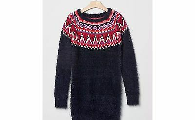 Gap kids girls navy blue  fair isle sweater dress XL size 12 new with tags