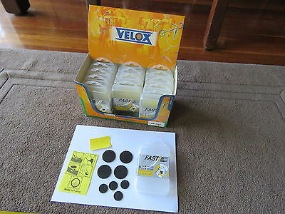 15 X Velox Fast Bike Puncture Repair Kit, 8 Self Adhesive Patches Made in France