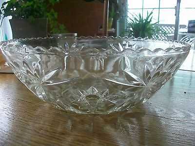 Vintage Early American Prescut Anchor Hocking Salade Or Fruit Bowl