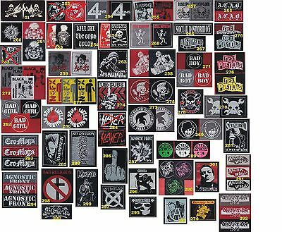PUNK CRUST HARD CORE METAL PSYCHOBILLY Oi PATCHES DISCHARGE SLAYER SEX PISTOLS