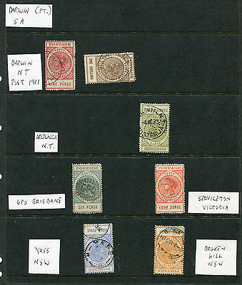 South Australia 1900 Selection Of Long Toms With Good Postmarks