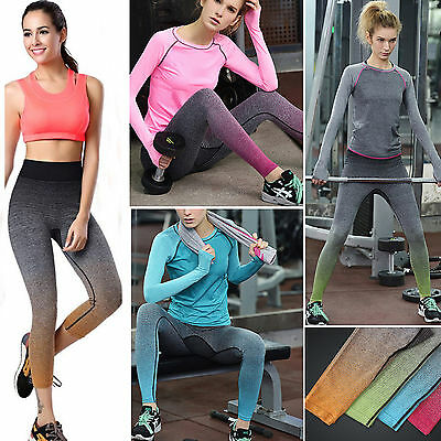 Women High Waist Yoga Fitness Leggings Running Gym Workout Sports Pants Trousers