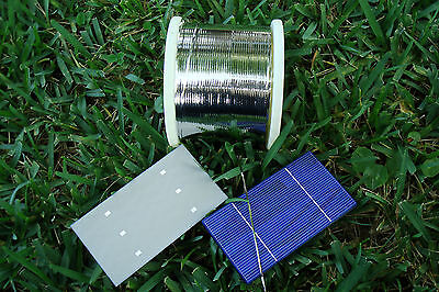 10' - 500' feet x 2mm solder covered TAB Tabbing WIRE! For DIY Solar Cell Panel.