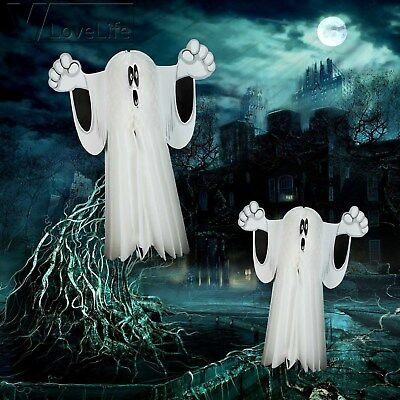 Funny Paper Hanging Ghost Spider Pumpkin Zombie Witch Halloween Party Decoration