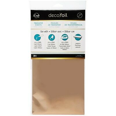 "Deco Foil Transfer Sheet 6""X12"" 20/Pkg - Rose Gold"