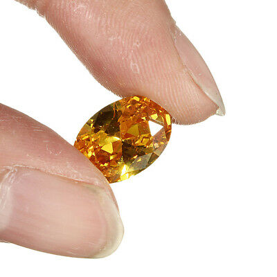 14mm Gem Oval Shape Yellow Sapphire Natural Loose Gemstone Jewelry Gifts 10pcs