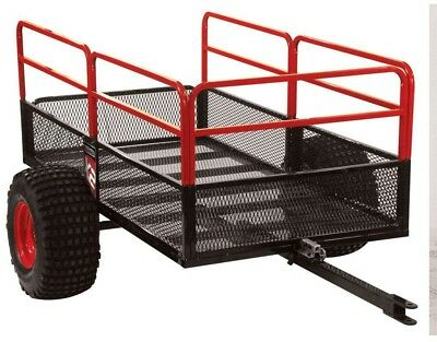 ATV Off-Road Trailer Tow Behind Utility Tractor Cart Pivoting Tilting Flat Bed