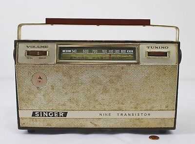 Vintage SINGER Model 910 BD Transistor Radio - Rare Accessory for Sewing Machine