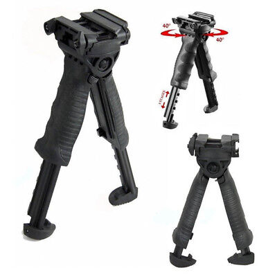 Tactical Hunting Swivel Bipod Foldable Foregrip Stand Picatinny Rail For Rifle