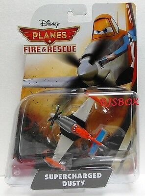 Disney Planes Fire & Rescue SUPERCHARGED DUSTY Race Plane Rare New Toy