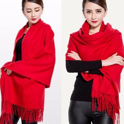 Women Tassel Pashmina Scarf Stole Shawl Wrap Soft Winter Warm Hijab Scarves
