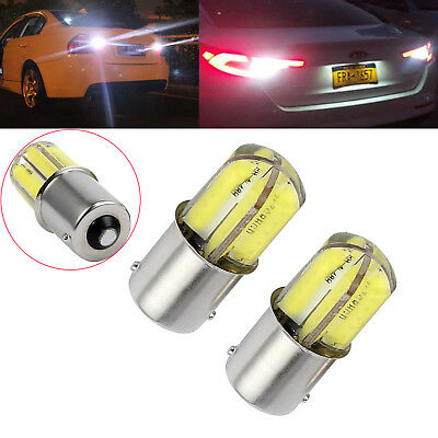 2PCS White BAY15D 1157 P21/5W CAR 15 LED BRAKE TAIL STOP LIGHT 2835 CANBUS BULBS