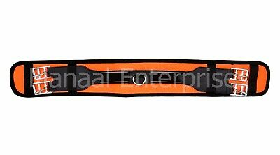 Nylon Western Cinches Elastic Horse Girth Stainless Steel Buckles Color Orange