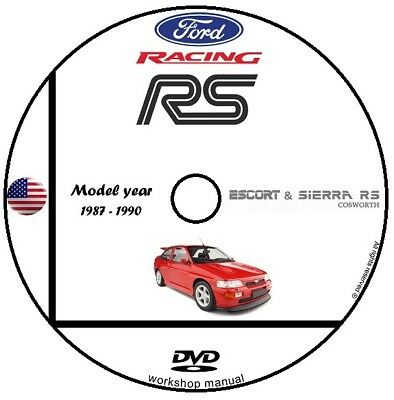 Manuale Officina Ford Sierra & Escort Cosworth My 1987 1990 Workshop Manual Dvd