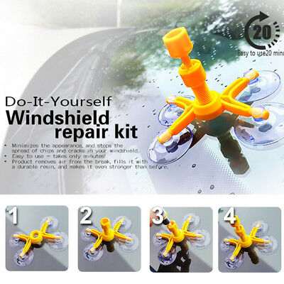 Car Windscreen Repair Kit DIY Chip Window Screen Crack Polishing Scratches Glass