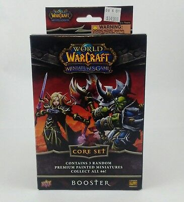 Upper Deck World of Warcraft 3 Random  Miniatures Core Set (One) Booster Box
