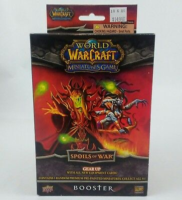 Upper Deck World of Warcraft 3 Random  Miniatures Spoils of War (1) Booster Box