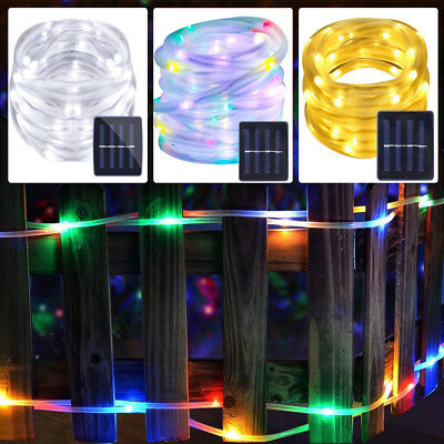 200 leds solar lichterkette lichtschlauch weihnachten au en deko beleuchtung 7 eur 4 77. Black Bedroom Furniture Sets. Home Design Ideas