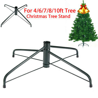 4/6/7/8/10 FT Artificial Christmas Tree Stand Holder Base Iron Stand Home Decor