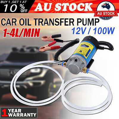 100W Car Engine Oil Transfer Extractor Pump Fluid Diesel Electric Siphon DC 12V