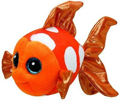 Ty Beanie Boos - Orange Sami the Clown Fish Soft Plush Cuddly Toy Fish New