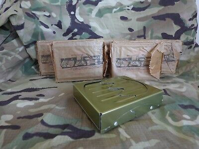Genuine British Army Hex Hexi Hexamine Solid Fuel Camping Stoves Bushcraft