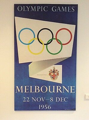 1956 Melbourne Olympics large poster, decorative, art, sport