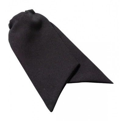 Women's Black Clip-on Cravat Tie for the security industry