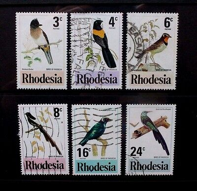 RHODESIA 1977 Birds of Rhodesia. Set of 6. Fine USED. SG537/542.