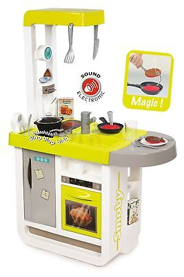 """Smoby Childrens """"cherry"""" Roleplay Toy Kitchen Kids Cooker Set"""