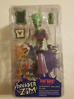 Invader Zim tallest purple Hot Topic exclusive rare Palisades figure mint
