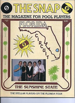 June-July 1990 Snap Magazine for Pool Players. Cover: The Sunshine State