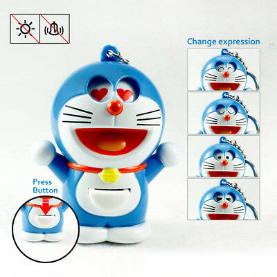 Japanese Anime Doraemon Changeable expression Keychain Key Ring Ornaments Gift