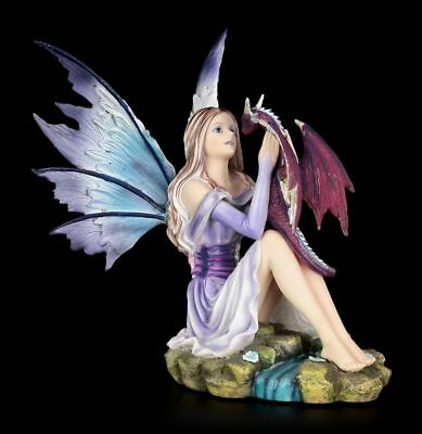 Elves Figurine - Blossoming Basilisk with Young Dragon - Fairy Figurine Fairy