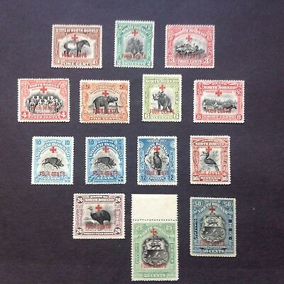 """NORTH BORNEO 1918 """" + FOUR CENTS"""" RED CROSS Issue"""