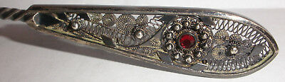 Antique German 800 silver small waffle aesthetic server filigree Herman Behrnd