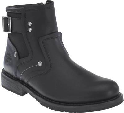 Harley Davidson Mens Woodruff Leather Motorcycle Boots Black D99904