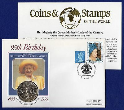 Great Britain, Queen Mother 95th Birthday, Coin Cover (Ref. t0281)