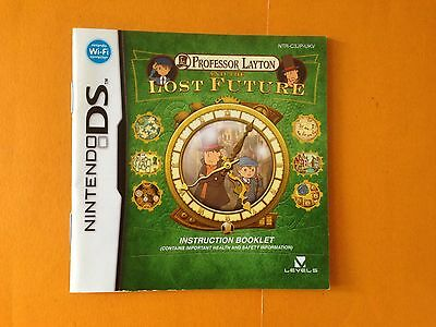 Professor Layton and the Lost Future NIntendo Ds manual only, English