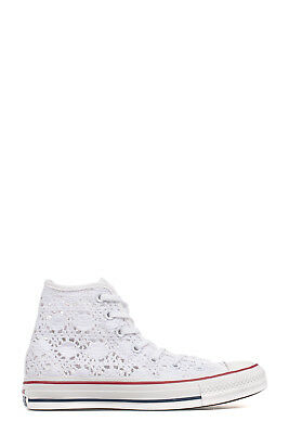 Converse Women's 156812C White Canvas Hi Top Sneakers