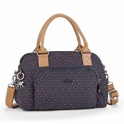 Kipling Alecto One Size Woven Blue Geo