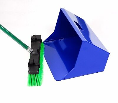 """18"""" Large Deluxe Heavy Duty Industrial Strong Metal Dustpan Extra Strong Garden"""