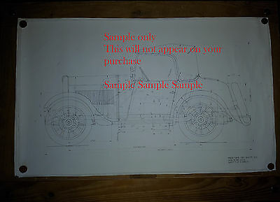 1934 Morris Minor S.W.B Two Seater Tourer Works Line Drawings (repoduction) x 3