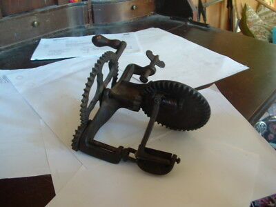 1856 Lockey+Howland Turntable Apple Parer From 19Th Cent. I Believe This Works!!