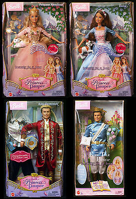 Erika Barbie Doll Anneliese King Dominick Princess and the Pauper Ken VG Lot 4